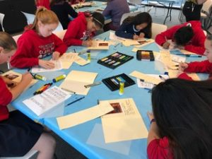 8th graders at the deYoung, inspired by American paintings they saw...