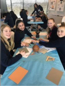 Creating art at the deYoung is so fun for seventh graders!