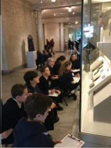SIxth graders as archaeologists at the Legion of Honor!