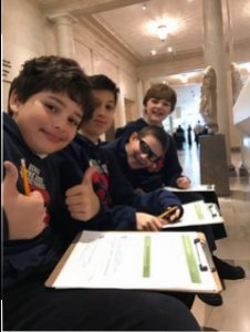 6th graders investigating ancient Greek art at the Legion of Honor