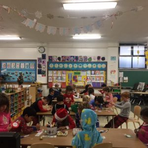 Hard workers during our Polar Express themed day.