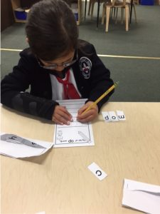 Practice with word families in reading groups.